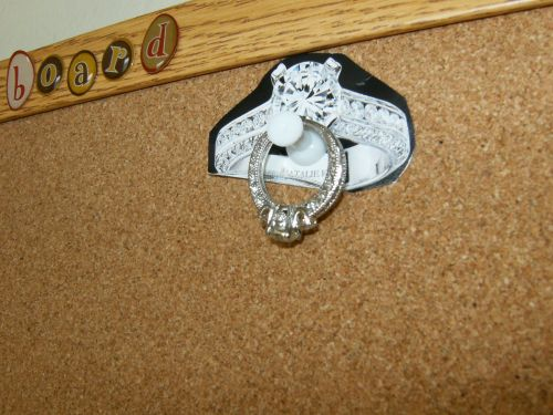 My engagement ring hanging on the dream board